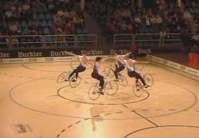 Synchronized Bicycle Dancing