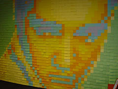 Post-It-Note Elvis Mural