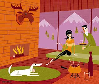 Artist josh agle aka shag has some nifty images of his artwork over