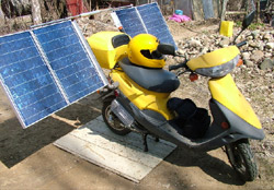 Solar Powered Scooter